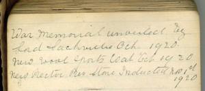 Hodgesob 1914 -1918 Diary 21254