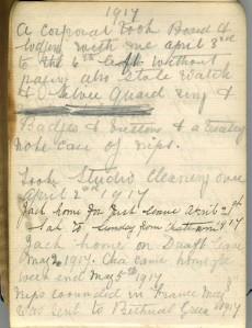 Hodgesob 1914 -1918 Diary 9242