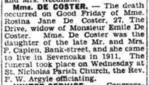 De Coster obituary